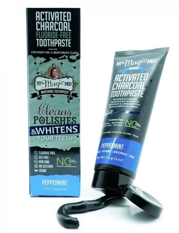 Pasta de dinti pentru albire cu carbon si bentonita, PEPPERMINT - My Magic Mud