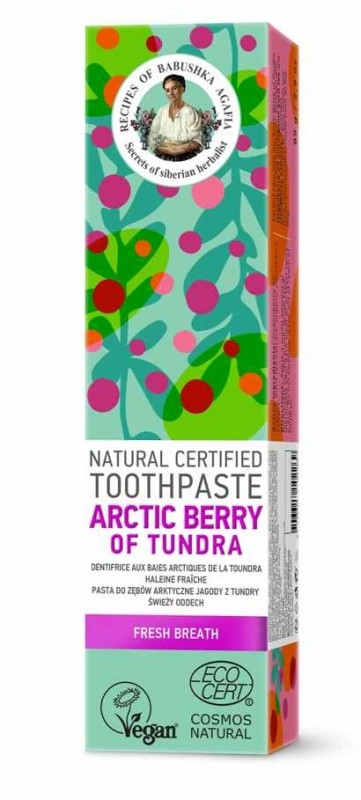 Pasta de dinti respiratie proaspata Arctic Berry of Tundra, 85g - RBA