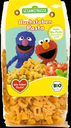 Paste organice alfabet din grau dur, pentru copii, 250g - SesameStreet