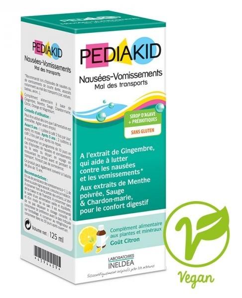 Pediakid NAUSEES-VOMISSMENTS pentru greata si rau de transport la copii, sirop 125 ml - PEDIAKID