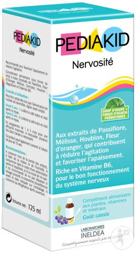 Pediakid NERVOSITE pentru diminuarea nervozitatii la copii, sirop 125 ml - PEDIAKID