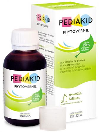 Pediakid Phytovermil supliment anti paraziti intestinali, sirop 125ml - PEDIAKID