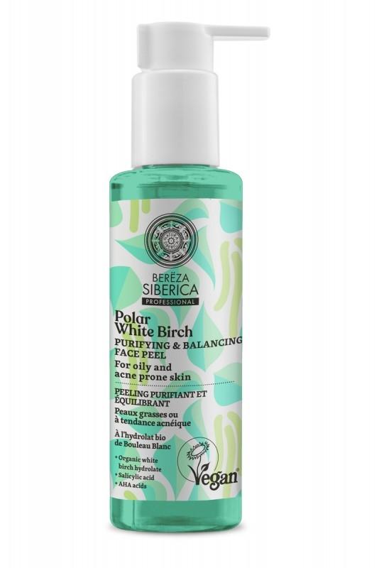 Peeling purficator echilibrant ten gras, acneic cu acid salicilic si AHA, 145ml - Polar White Birch