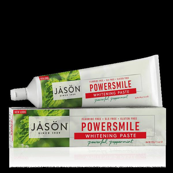 Pasta de dinti Powersmile fara fluor pentru albirea dintilor, 170g - Jason