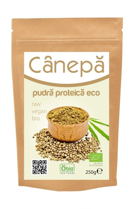 Canepa pudra proteica bio, 250g - Obio