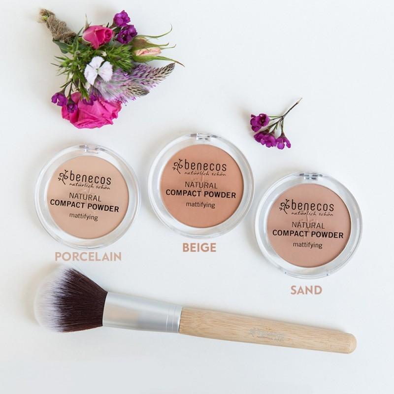 Pudra compacta matifianta Sand - Benecos