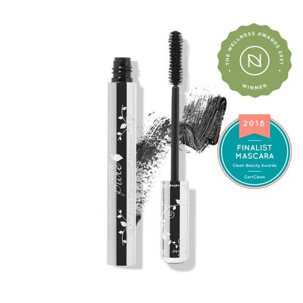 Rimel natural cu pigmenti din fructe Black Tea (negru) - 100 Percent Pure Cosmetics