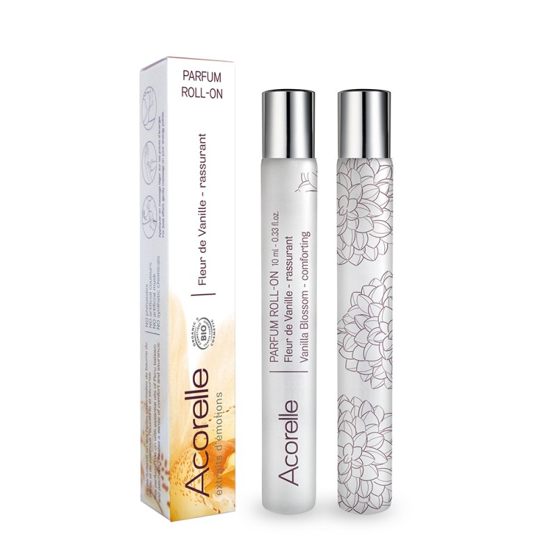 Apa de parfum bio Fleur de Vanille, roll-on 10 ml - Acorelle