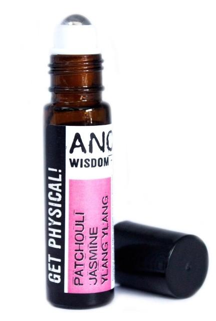 Roll-on uleiuri esentiale Get Physical! (patchouli, iasomie, ylang), 10ml - Ancient Wisdom