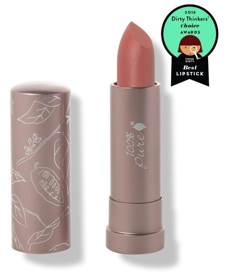 Ruj de buze semi-mat cu unt de cacao, Cassia - 100 Percent Pure Cosmetics