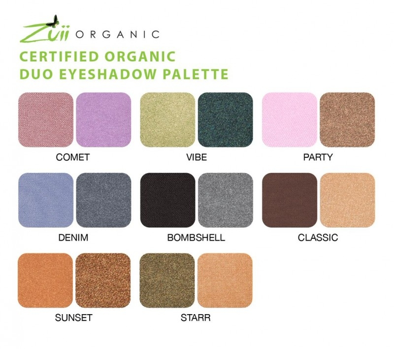 Fard de pleoape organic DUO cu ingrediente florale, STARR - Zuii Organic
