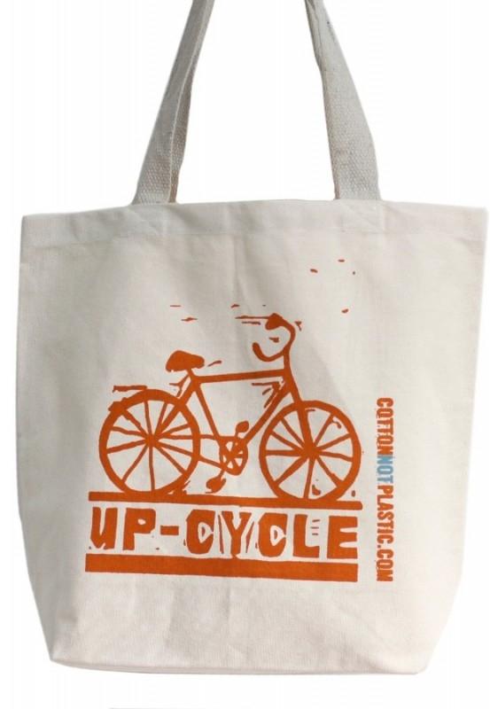 Sacosa de cumparaturi din bumbac Up Cycle, diverse culori