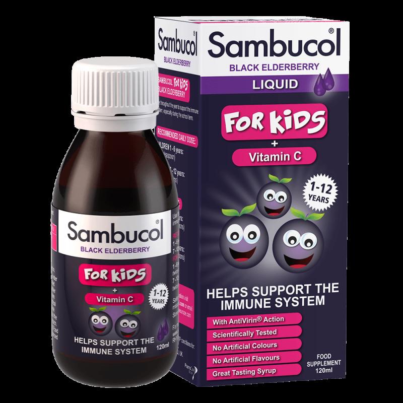 Sambucol KIDS cu Vitamina C, sirop imunitate copii 120ml