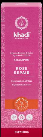 Sampon ayurvedic reparator cu trandafir de Damasc - Khadi