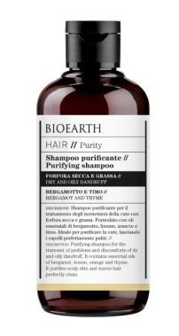 Sampon purificator antimatreata cu cimbru si bergamot, 250ml - Bioearth Hair Purity