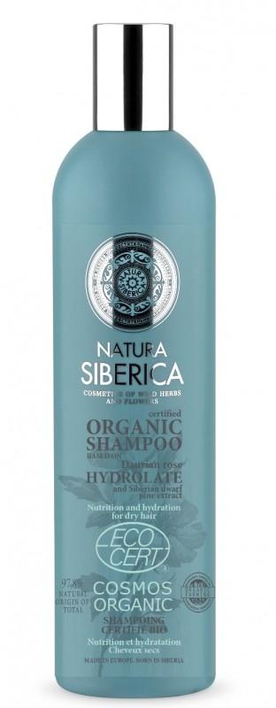 Sampon bio nutritie si hidratare par uscat cu hidrolat de trandafir daurian, 400 ml - Natura Siberica