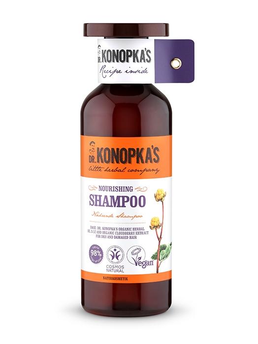 Sampon bio nutritiv pentru par uscat sau deteriorat, 500 ml - Dr. Konopka