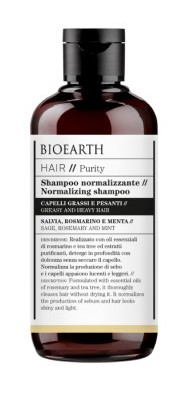 Sampon echilibrant pentru scalp gras, cu salvie si rozmarin, 250ml - Bioearth Hair Purity