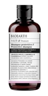 Sampon bio protector pentru par vopsit, tratat chimic, 250ml - Bioearth Hair Protect