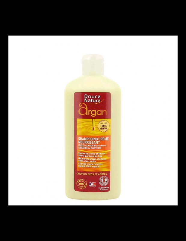 Sampon crema cu ulei de argan bio si unt de karite, 250 ml - Douce Nature
