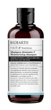 Sampon hidratant pentru par uscat si varfuri despicate, 250ml - Bioearth Hair Nutrition