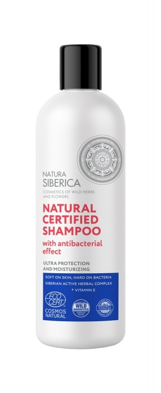 Sampon natural cu efect antibacterian, ultra protectie si hidratare, 400ml - Natura Siberica