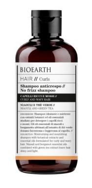 Sampon anti-frizz cu ceai verde pentru par cret, ondulat, 250ml - Bioearth Hair Curls