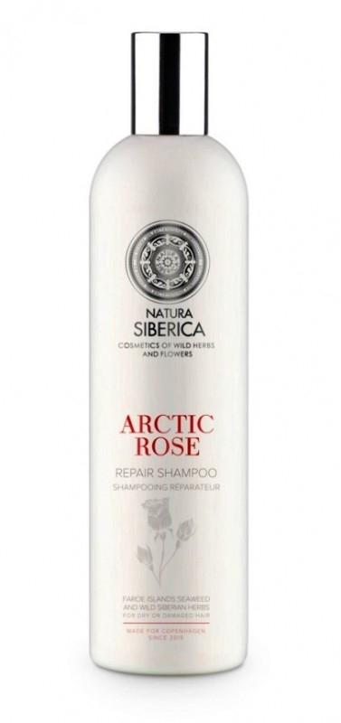 Sampon reparator pentru par uscat sau deteriorat Arctic Rose, Copenhagen 400 ml - Natura Siberica