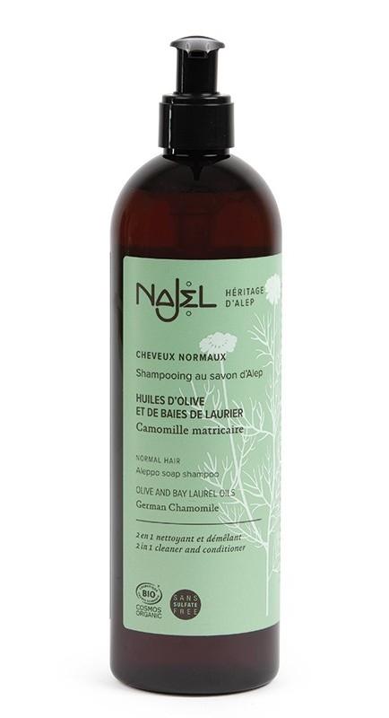 Sampon si balsam 2in1 cu sapun de Alep, pentru par normal, 500 ml - NAJEL