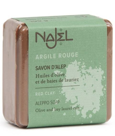 Sapun de Alep cu argila rosie, 100 g - NAJEL