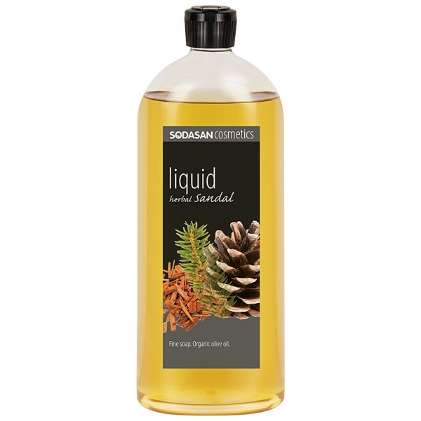 Sapun lichid-gel de dus Herbal Sandal (santal), 1L - Sodasan