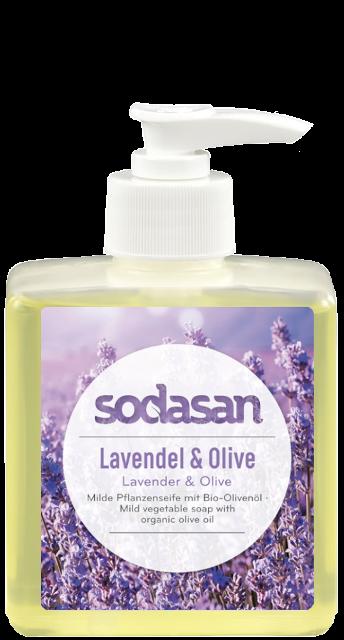 Sapun lichid-gel de dus Lavanda si ulei de masline, 300 ml - Sodasan