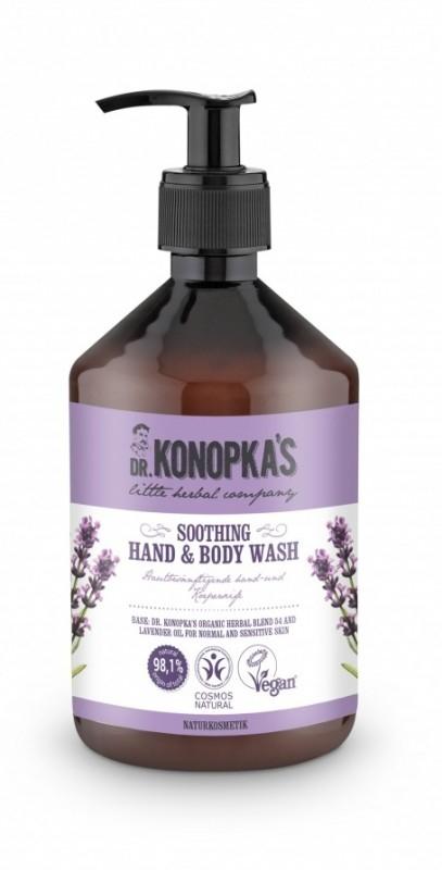 Sapun lichid pentru maini si corp cu lavanda, 500 ml - Dr. Konopka