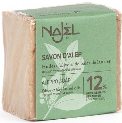 Sapun traditional de Alep cu 12% ulei de dafin, 170g - NAJEL
