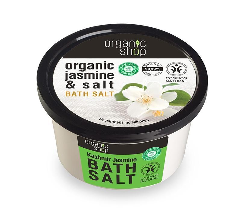 Sare de baie cu iasomie Kashmir Jasmine, 250 ml - Organic Shop