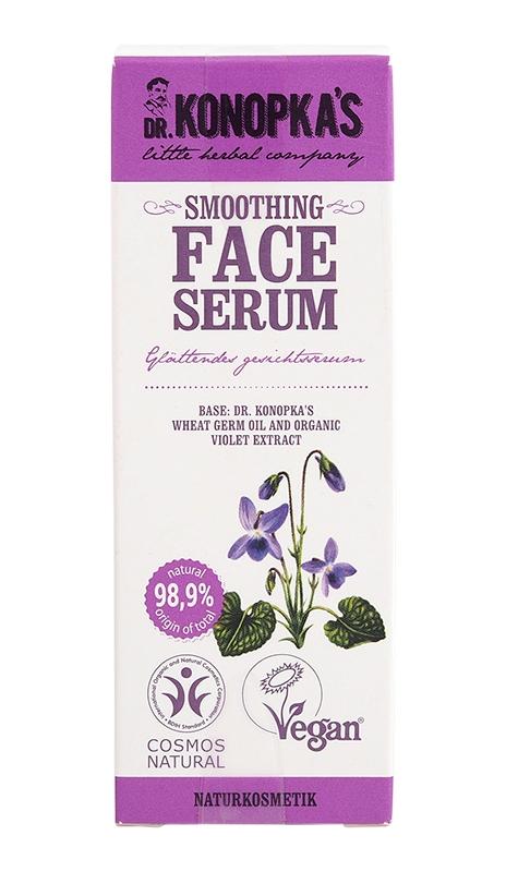 Serum regenerant pentru ten cu extract de violete, 30 ml - Dr. Konopka