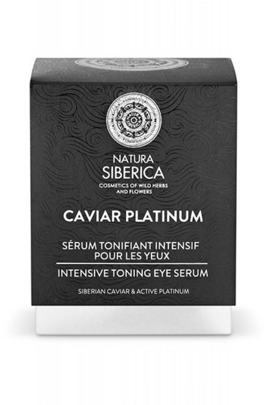 Serum tonifiant intensiv pentru ochi cu platina si caviar, Caviar Platinum, 30ml - Natura Siberica