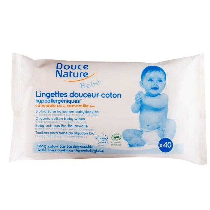 Servetele umede BIO pentru bebelusi, 40 buc - Douce Nature