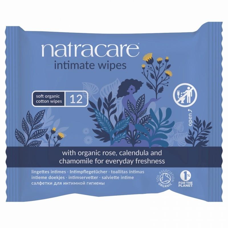 Servetele umede din bumbac organic pentru igiena intima - Natracare
