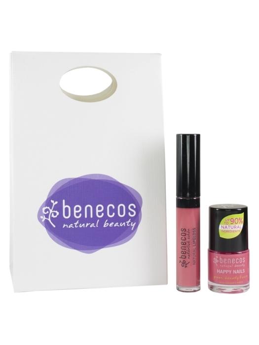 Set Cadou Flamingo (lac de unghii, gloss de buze) - Benecos