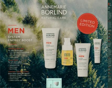 Set de ingrijire pentru barbati, System Energy Boost - Annemarie Borlind