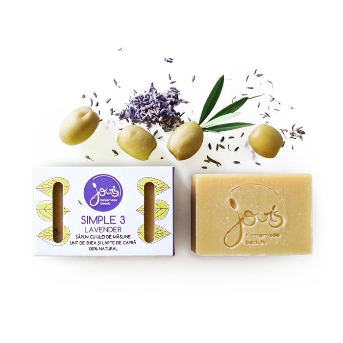 Sapun natural hidratant Simple 3 Lavender - Jovis Homemade Beauty