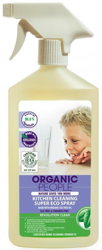 Solutie ecologica pentru curatarea bucatariei cu tea-tree, 500 ml - Organic People