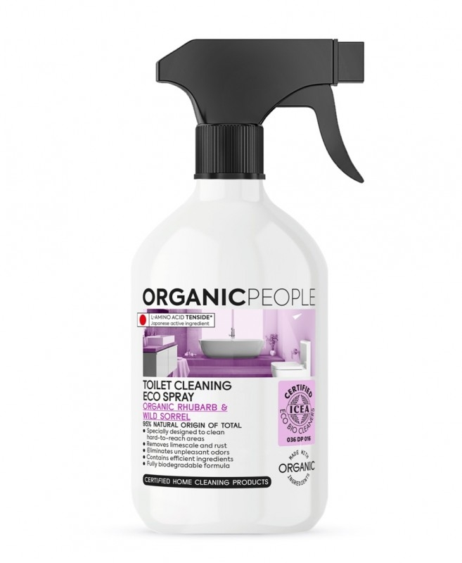Spray ecologic pentru curatarea toaletei Rhubarb & Wild Sorrel, 500ml - Organic People