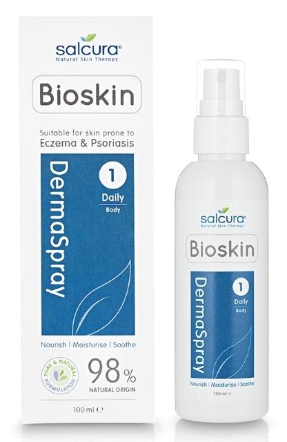 Spray intensiv hranitor piele uscata, predispusa la eczeme, psoriazis, mancarimi, Dermaspray 100ml - Salcura