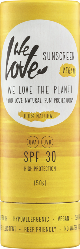 Stick protectie solara naturala FPS30 Zero Waste - We love the planet