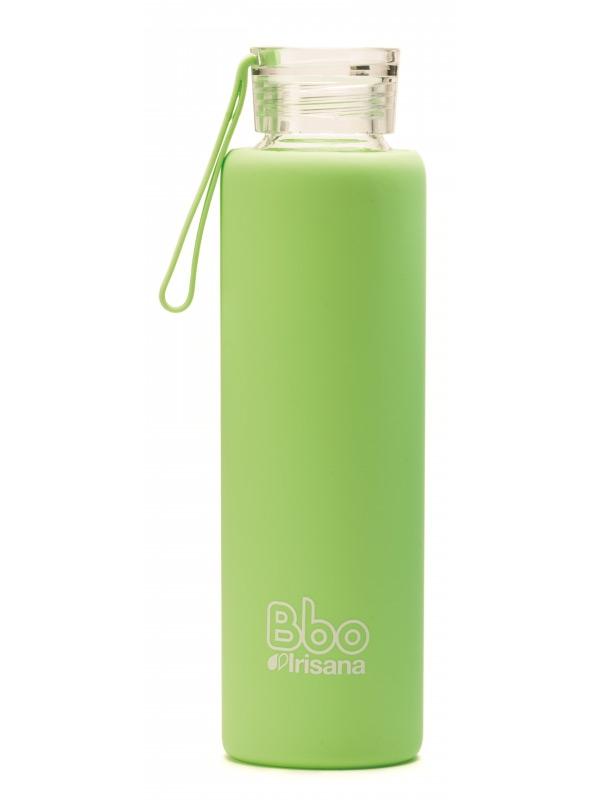 Sticla reutilizabila din borosilicat cu husa de silicon, 550 ml VERDE - Irisana