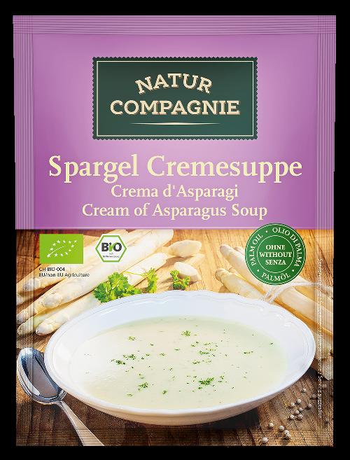 Supa crema bio de Sparanghel, plic 40g (2 portii) - Natur Compagnie