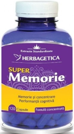 Super Memorie, supliment natural memorie si concentrare, 120 capsule - HERBAGETICA