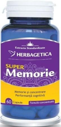 Super Memorie, supliment natural memorie si concentrare, 60 capsule - HERBAGETICA